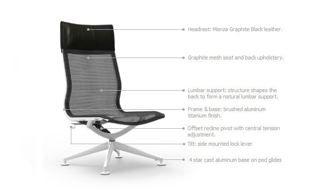 Cypher High Back Armless Lounge Chair