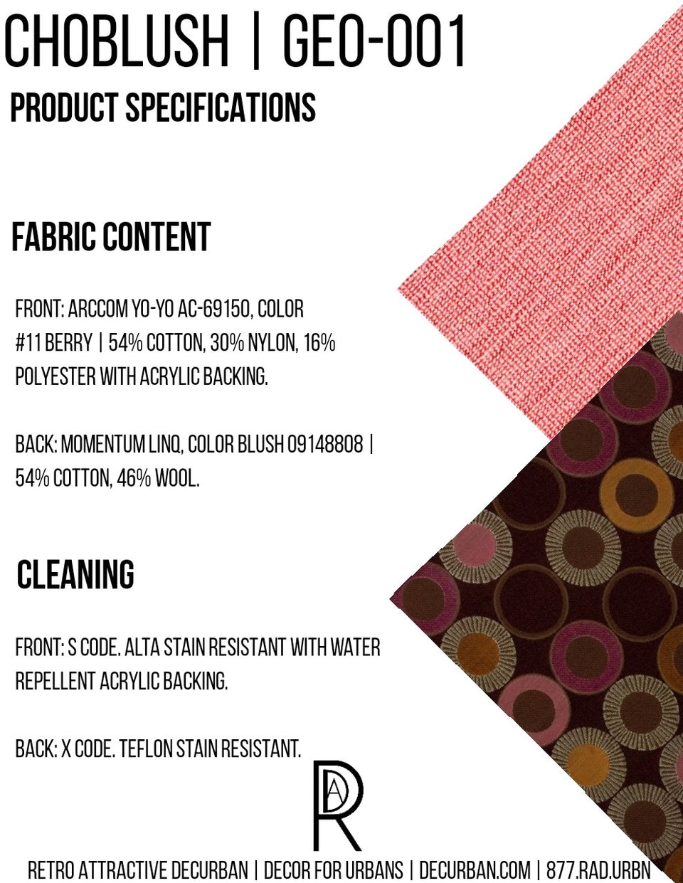 Decurban Choblush Fabric Specification Sheet