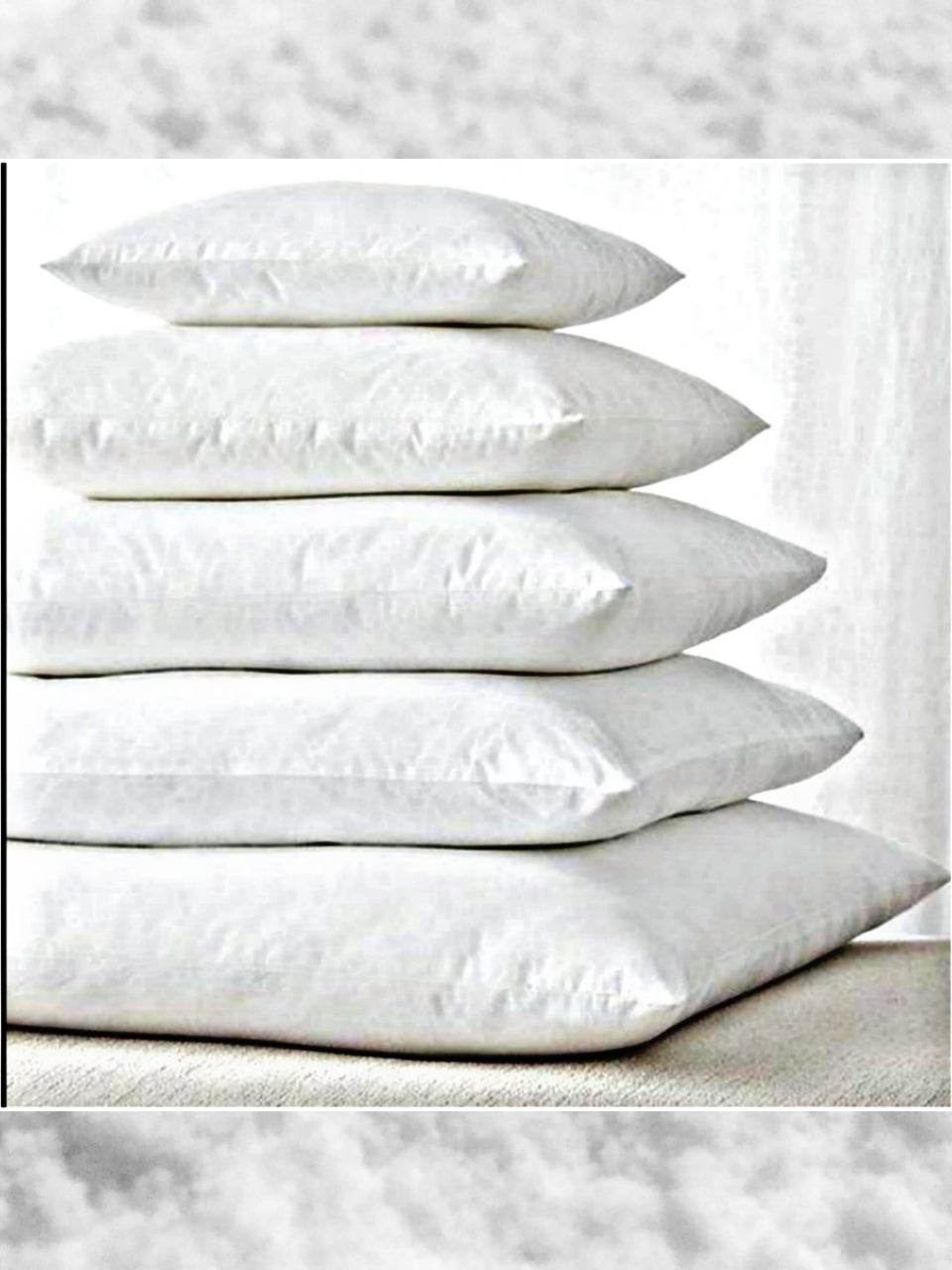 Square Knife Edge Premium Brushed Micro-Fiber Pillow Insert