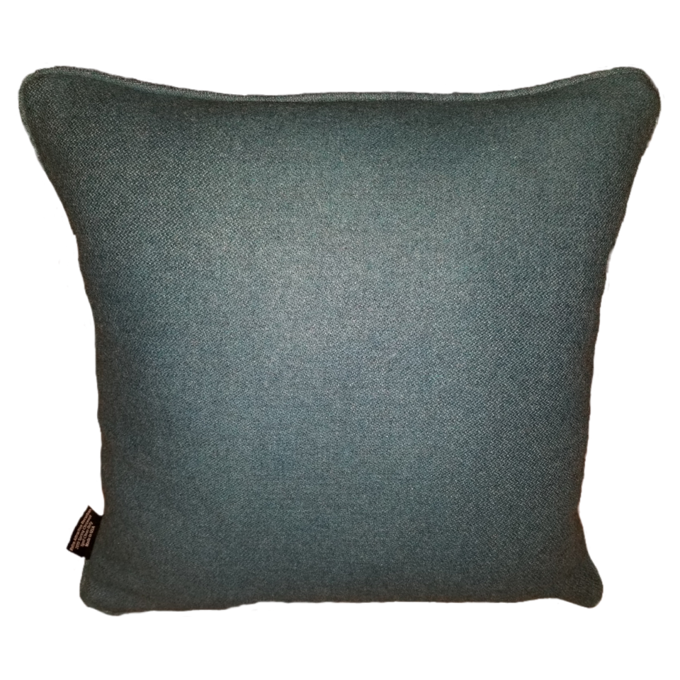 Minefield green blue silver decorative pillow cover rear view GEO-002