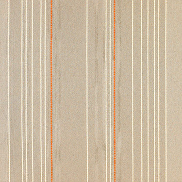 beige, taupe, and orange pinstripe fabric by Momentum Vicinity, color Stone