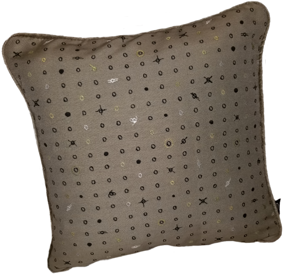 Raphael | Khaki, Black, & Beige Neutral Pillow Cover