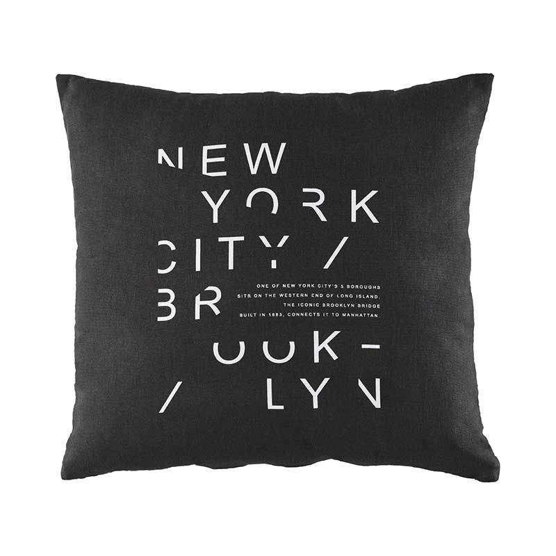 Brooklyn Bridge / New York reversible square Throw Pillow