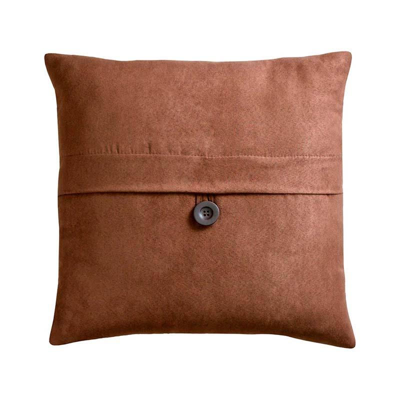 Chocolate Square Button Decorative Pillow Cover