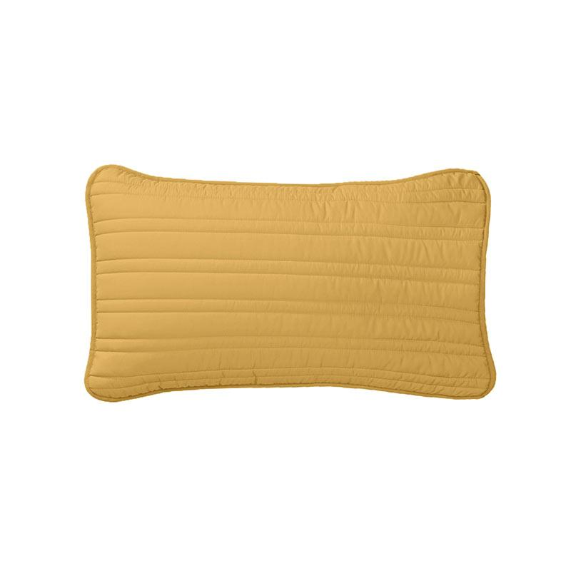 decurban simple embroidered rectangle bedroom pillow yellow