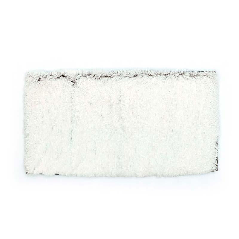Ivory Long hair textured rug