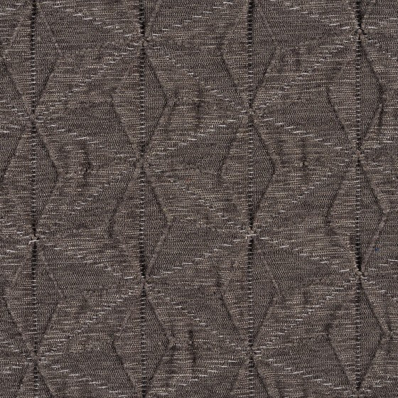 diamond stitched gray tone on tone geometric patterned fabric by Designtex Kami, color Charcoal