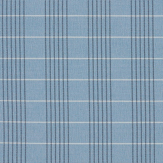 light blue, dark blue, and white plaid patterned fabric by Momentum Windowpane, color Sky