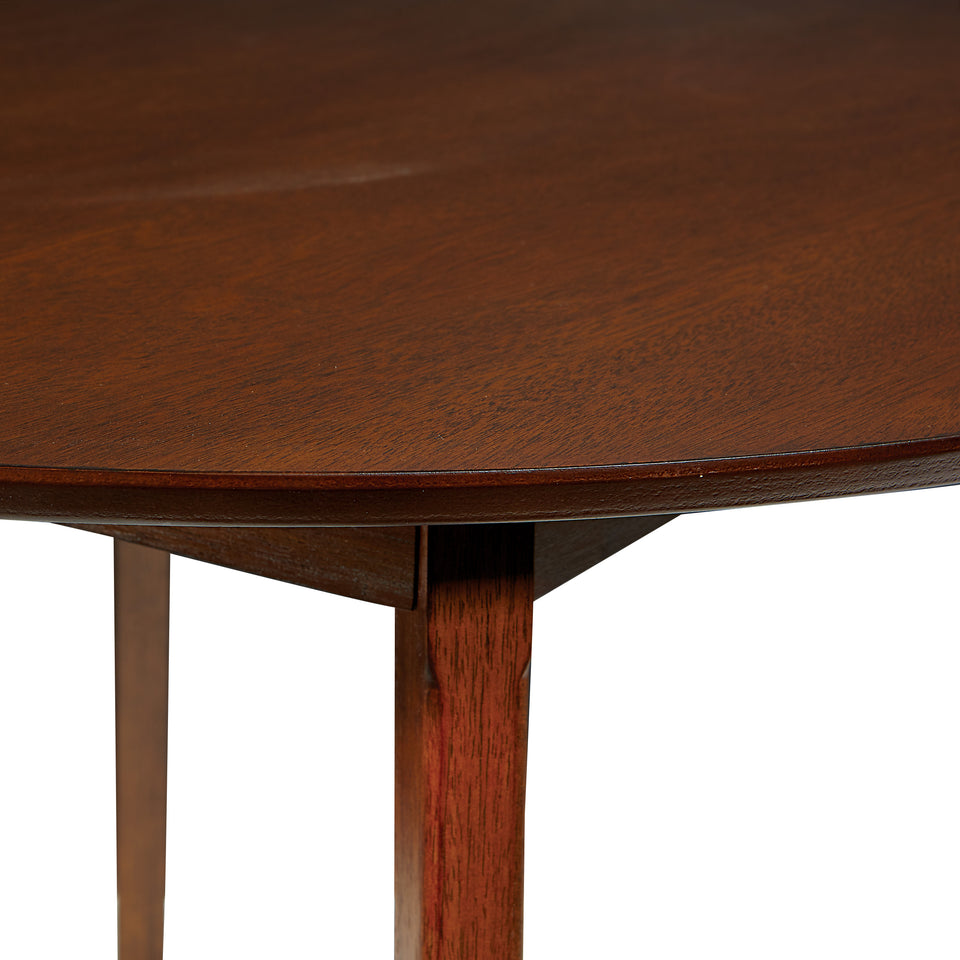 o'connor mid century modern 5 piece chestnut dining set table detail
