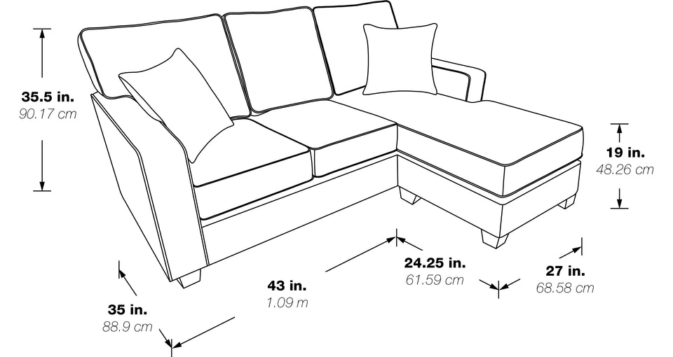 bavido sectional plush sofa black and white schematic