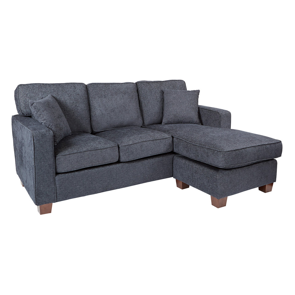 bavido sectional plush sofa in blue angle