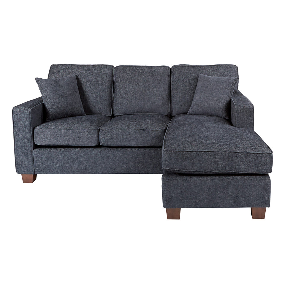 bavido sectional plush sofa in blue front