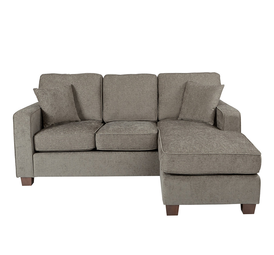 bavido sectional plush sofa in gray front
