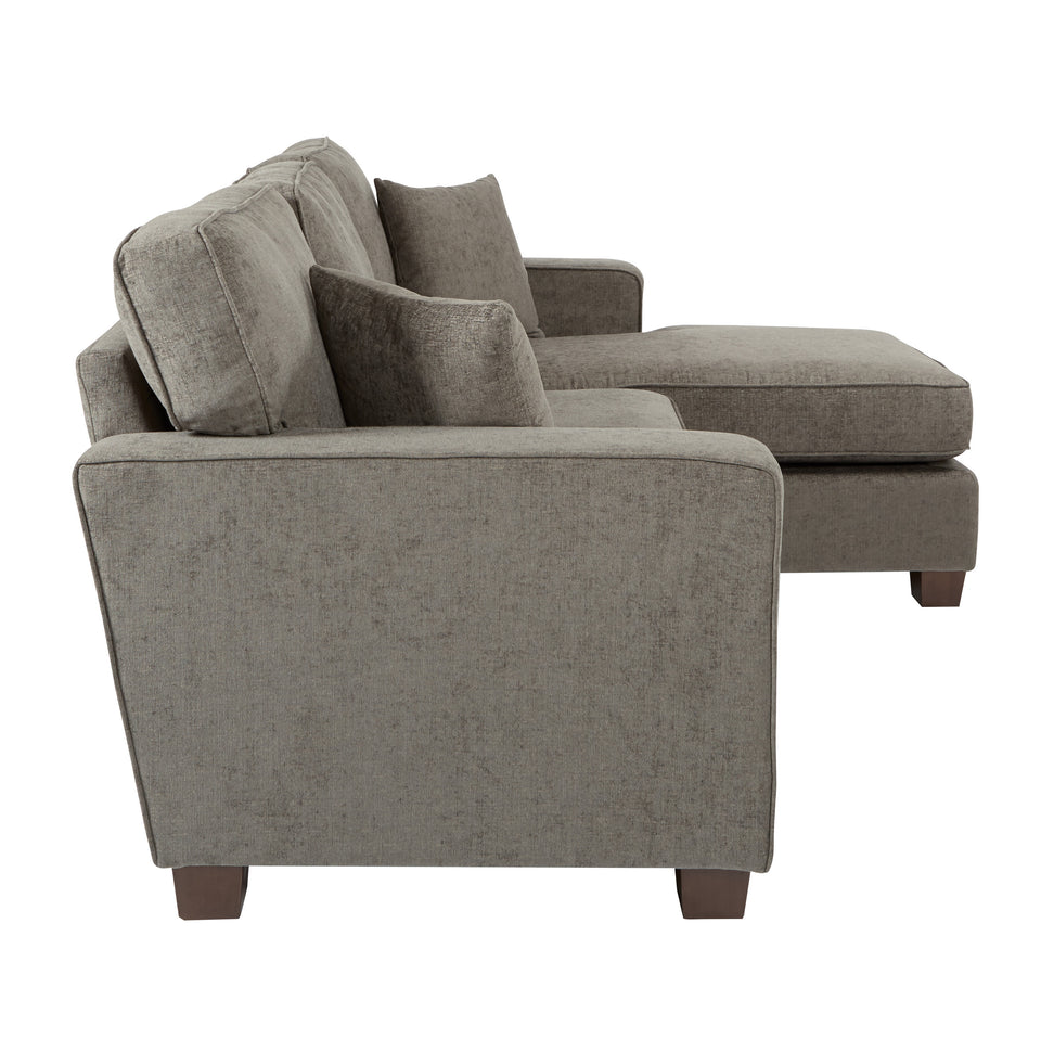 bavido sectional plush sofa in gray side
