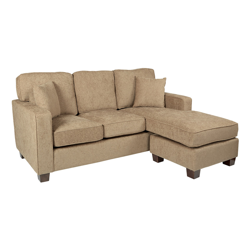 bavido sectional plush sofa in tan angle