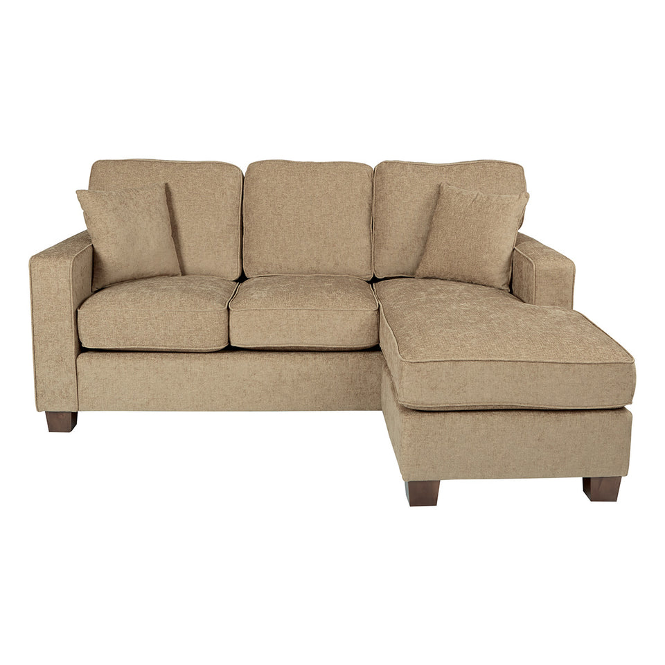 bavido sectional plush sofa in tan front
