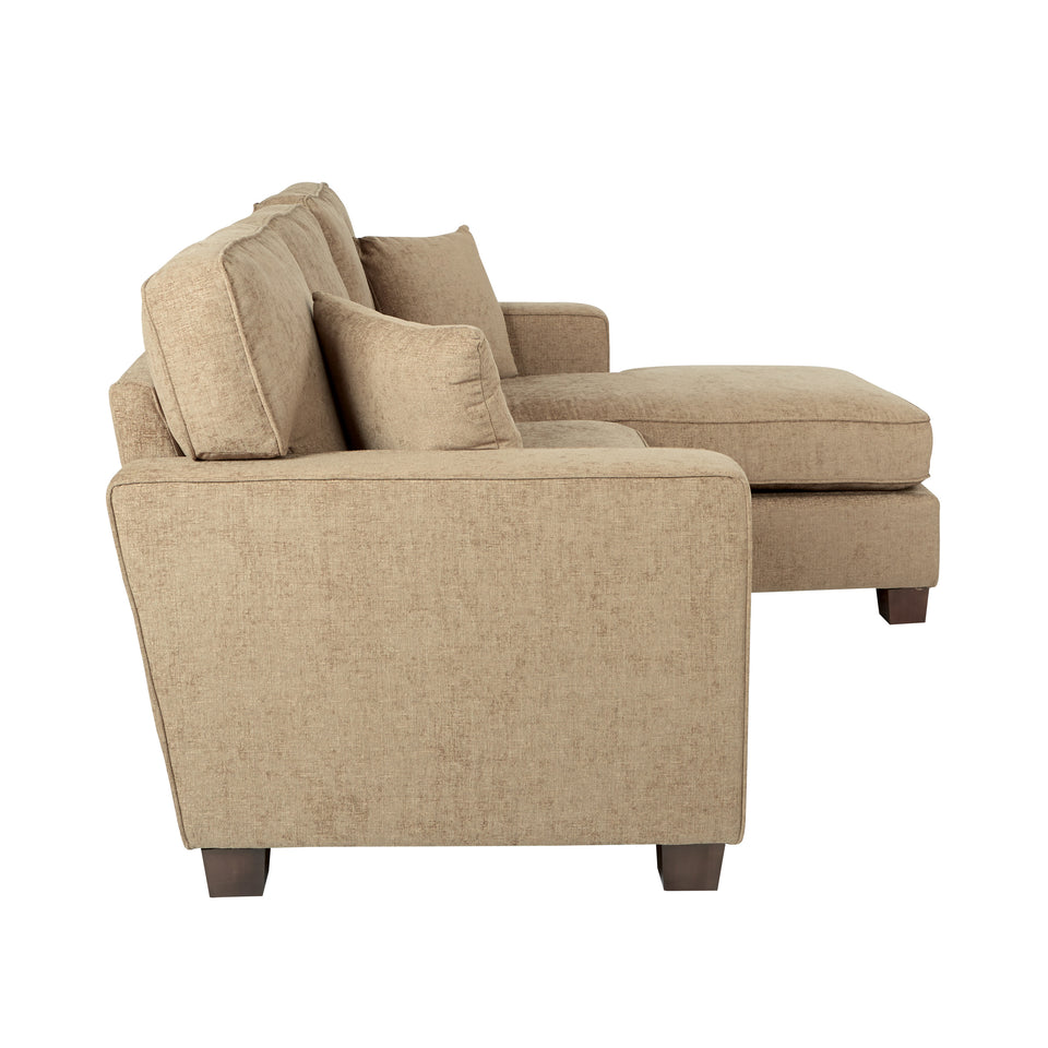 bavido sectional plush sofa in tan side