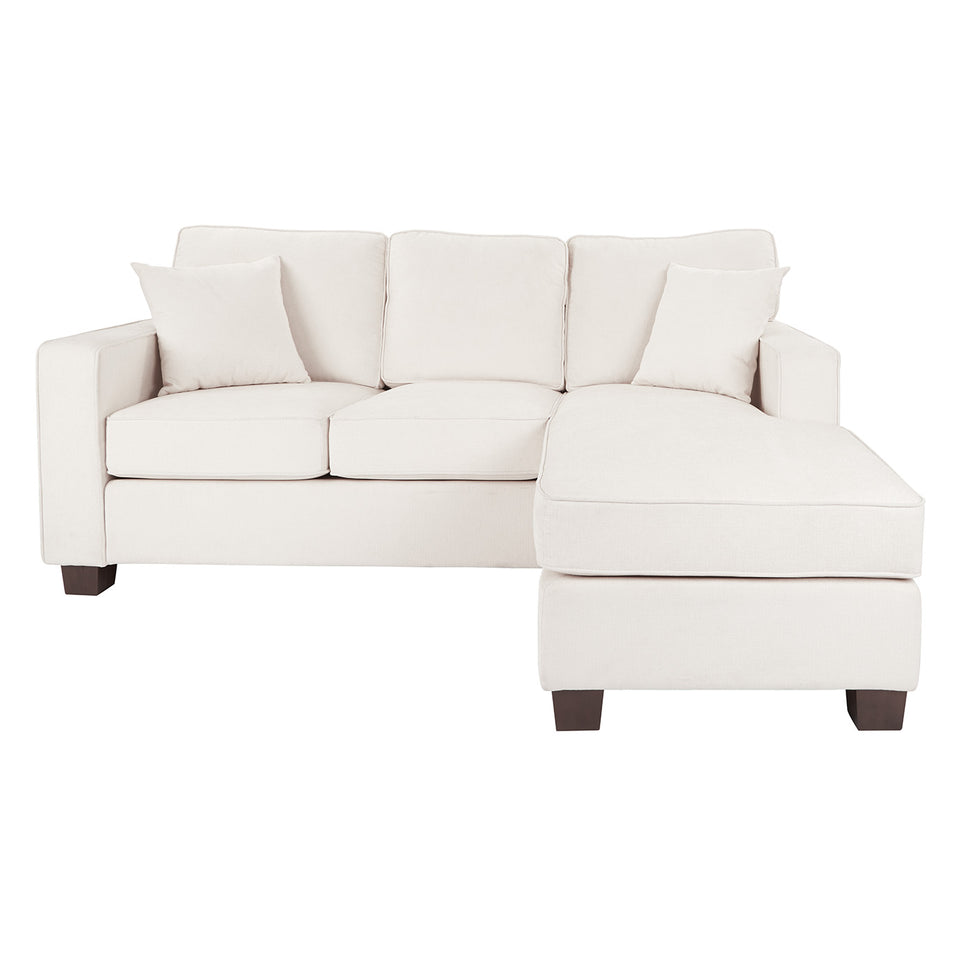 bavido sectional plush sofa in white front