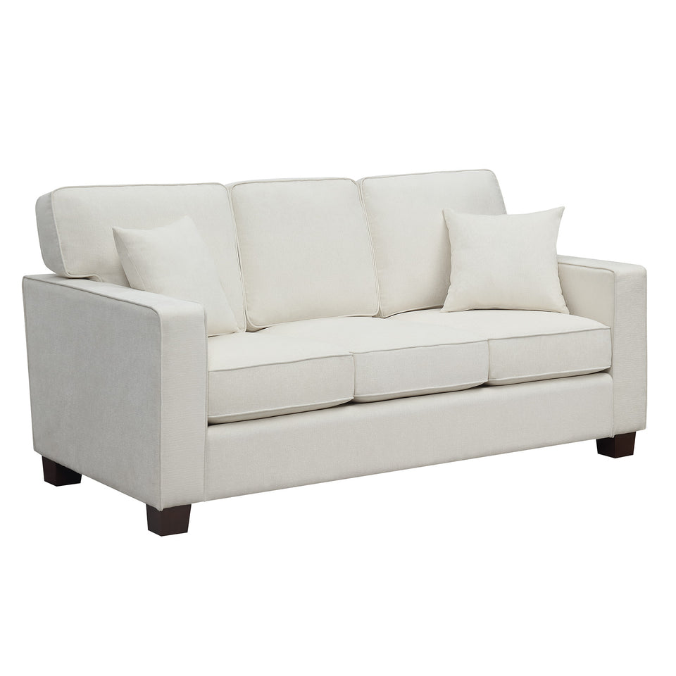 bavido plush sofa in white angle