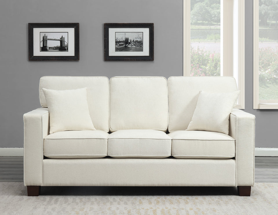 bavido sofa plush sofa in white in living room setting