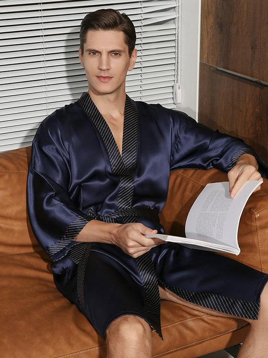 Luxurious Japanese Kimono Design Robe Set For Men | Two Color Selected