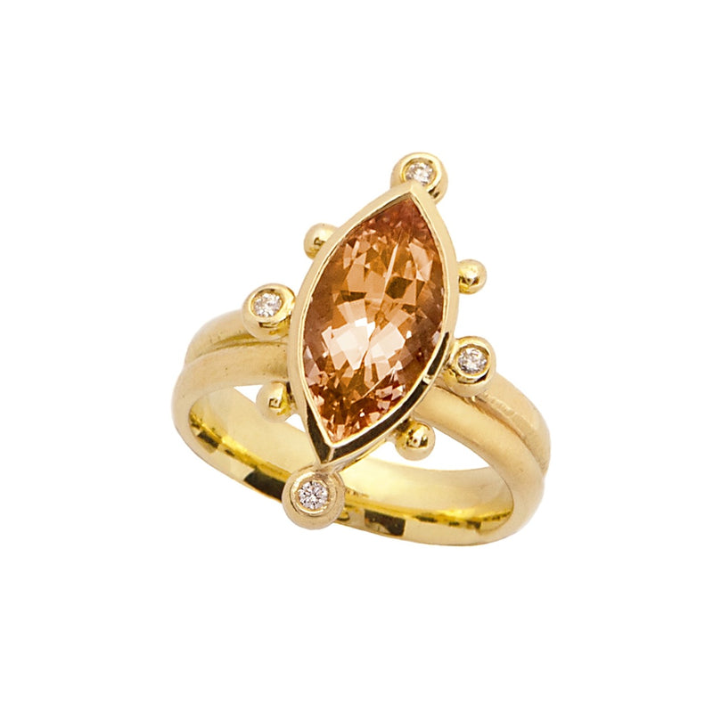 Phoebe Ring - Morganite & Diamonds - Simonetta's Jewels Reimagined