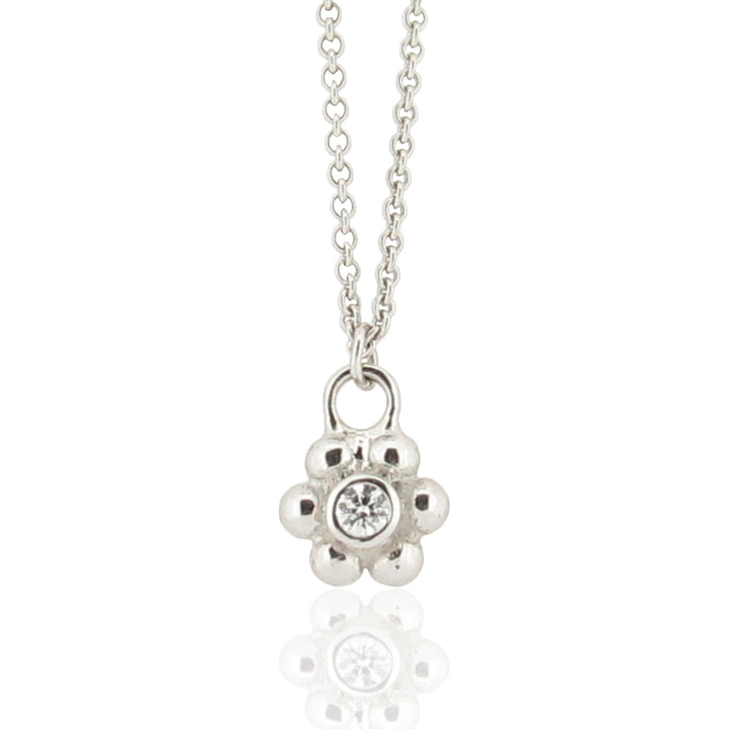 Grace Diamond Pendant - White Gold