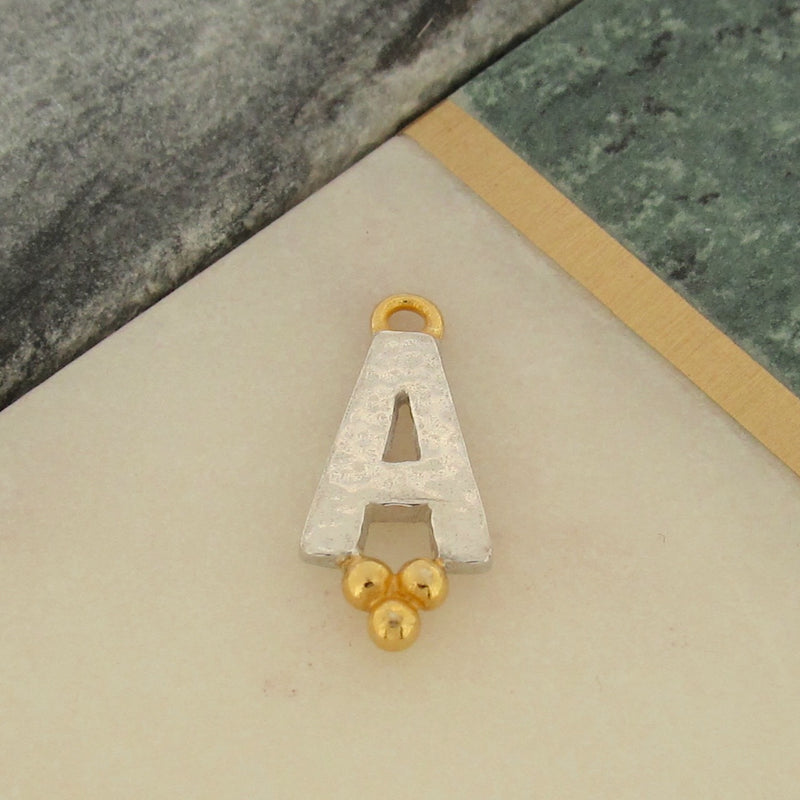 Trinity Letter Charm - A