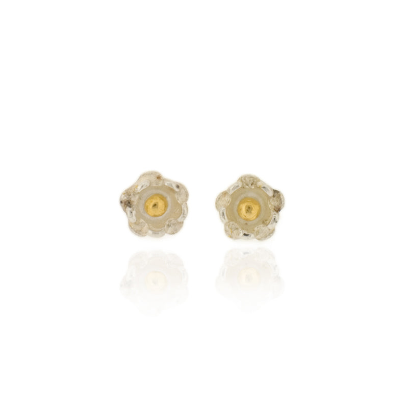 Delphine Stud Earrings - Silver