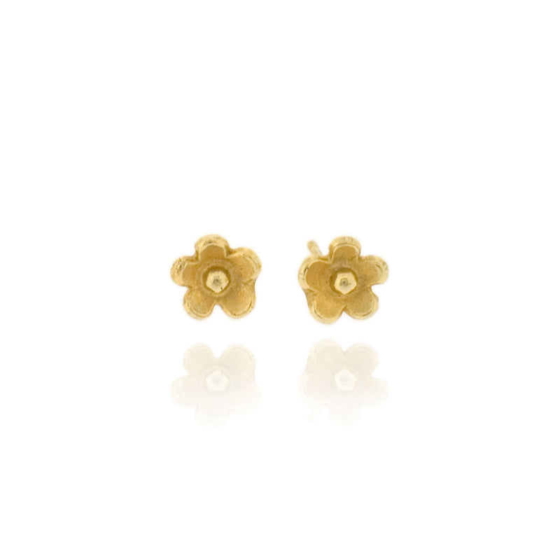 Marguerite Stud Earrings - Gold