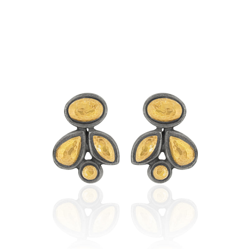 Bao - Stud Earrings - Black