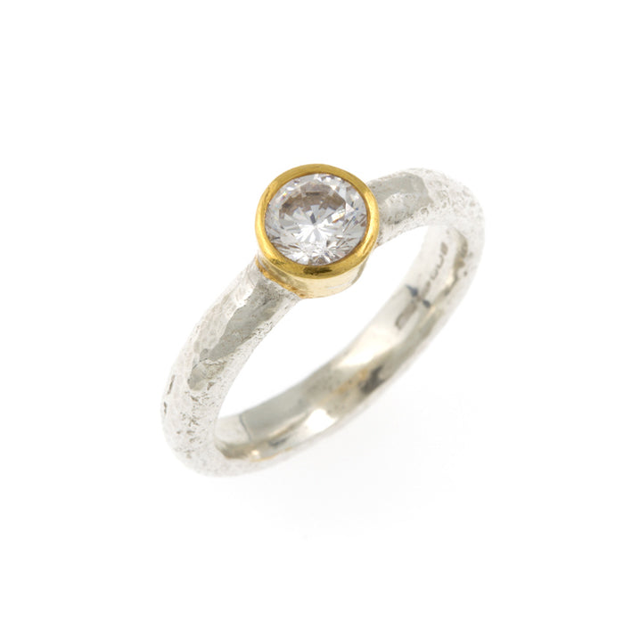 Kara Diamond Ring - 18ct White & Yellow Gold