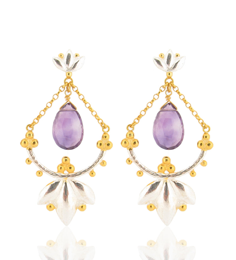 Helena Earrings - Amethysts
