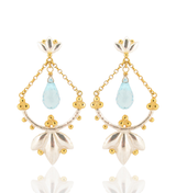 Helena Earrings - Blue Topaz