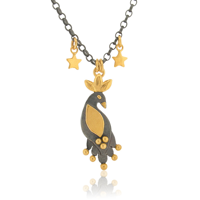 Night Royal Bird - Necklace - Extra Fine Chain