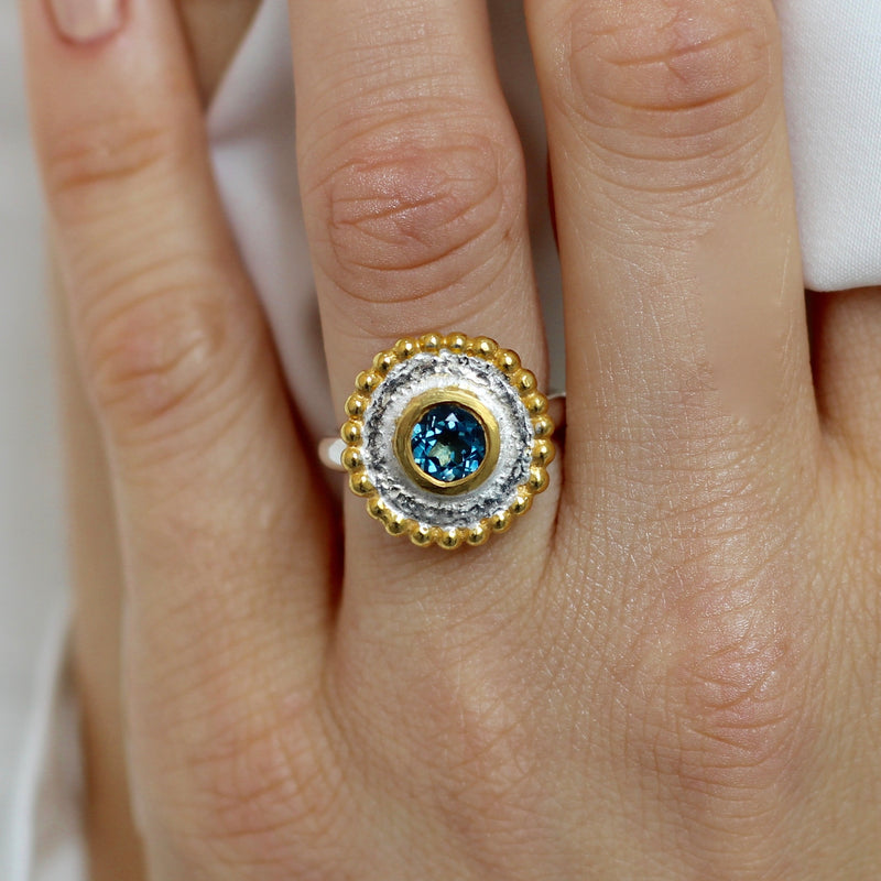 Oriel Ring - Blue Topaz