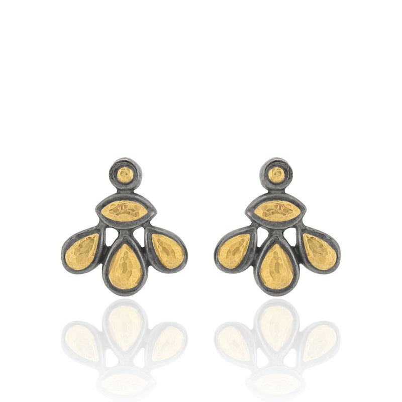 Safie - Stud Earrings - Black