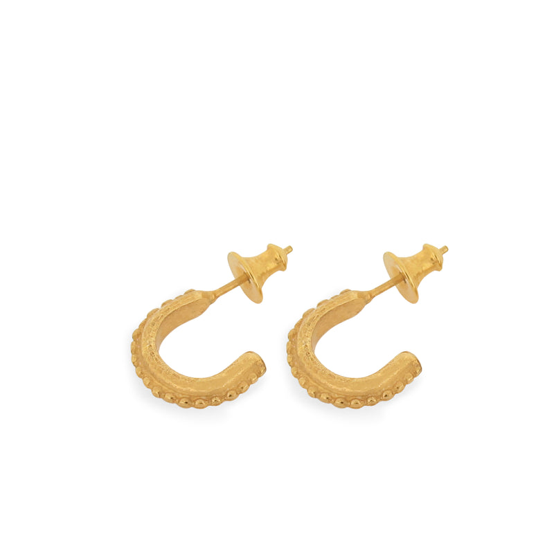 Silkey Mini Hoops - Gold