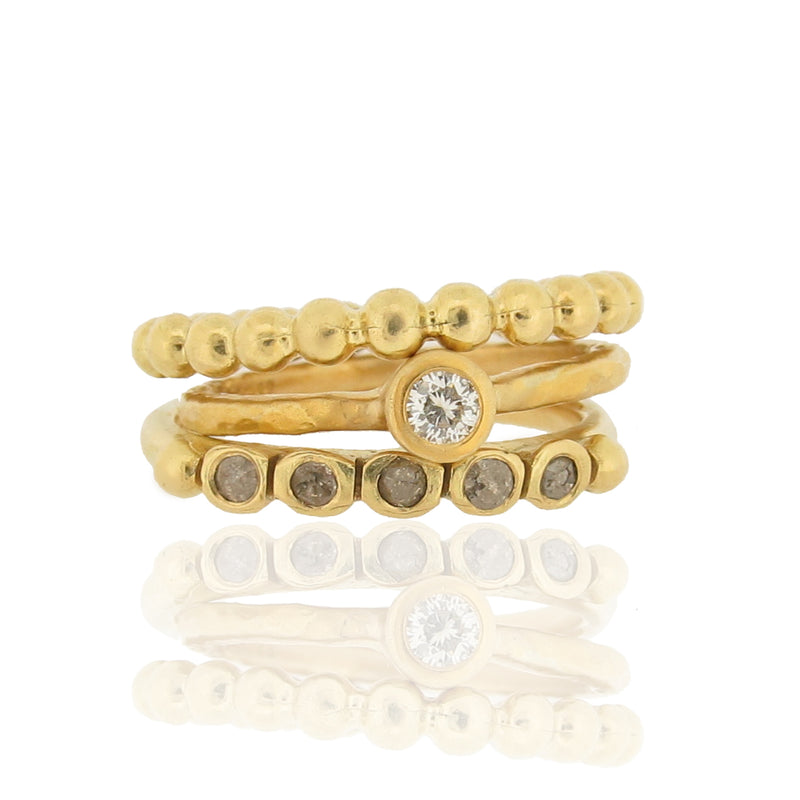 Constantine Ring Stack - 18ct & Diamonds