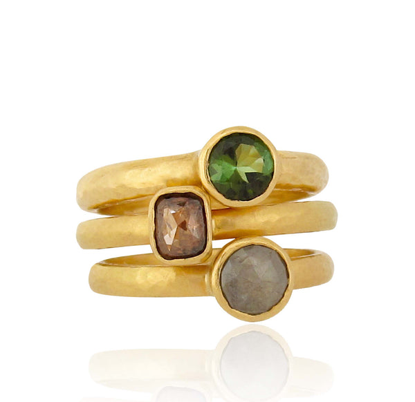 Pretty Ring Stack Trio - 18ct Gold