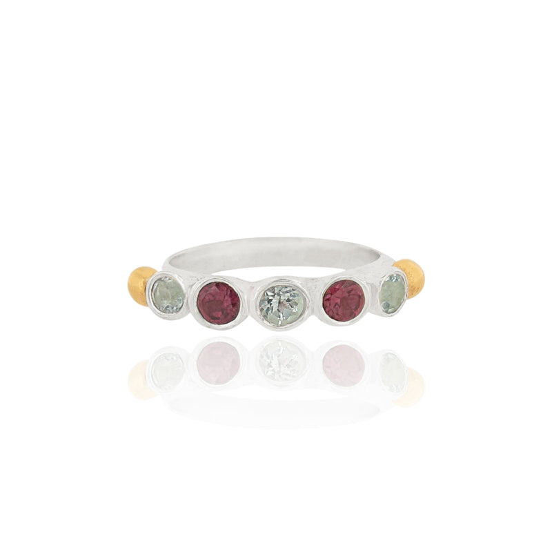 Anela Ring - 3mm Gemstones