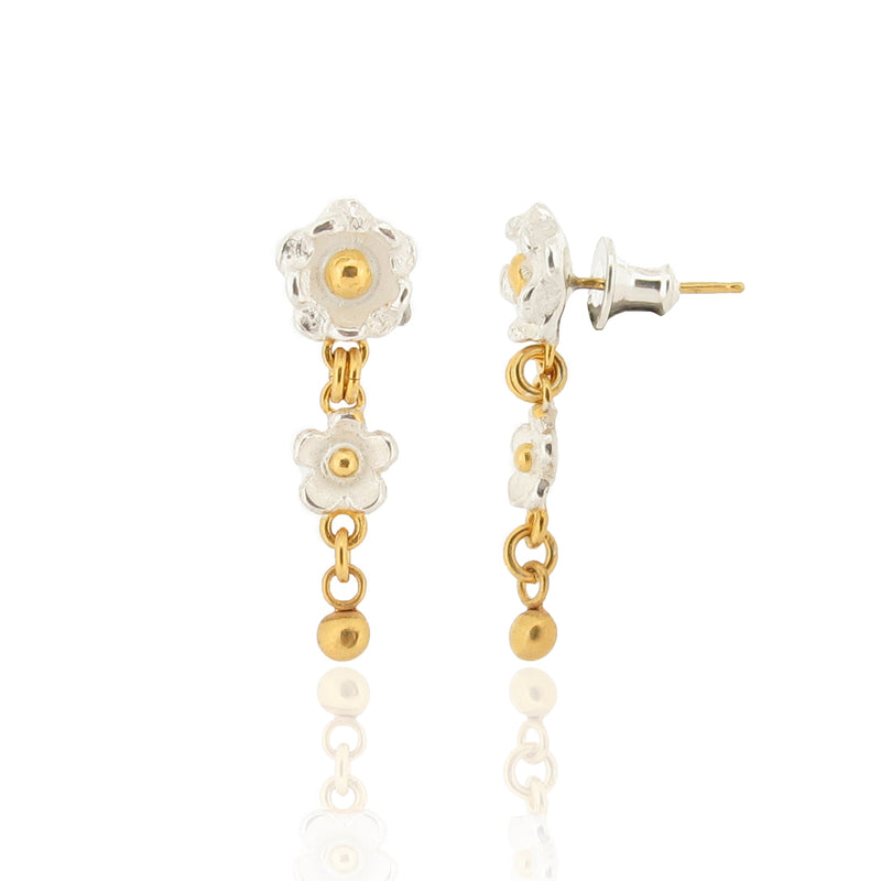 Delphine & Marguerite - Flower Drop Earrings