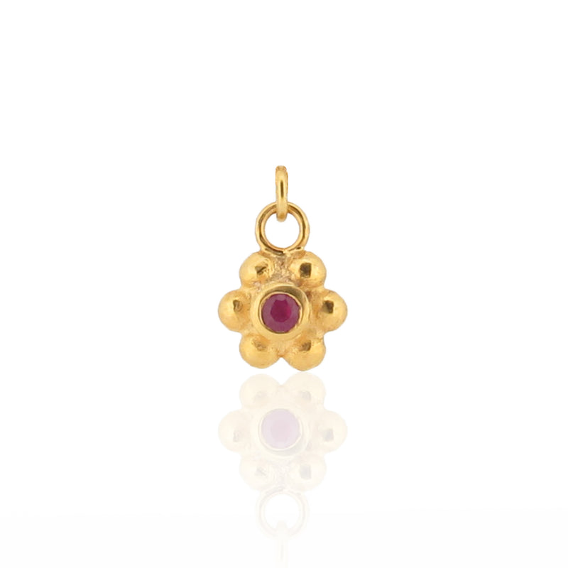 Grace Charm - Ruby - Gold