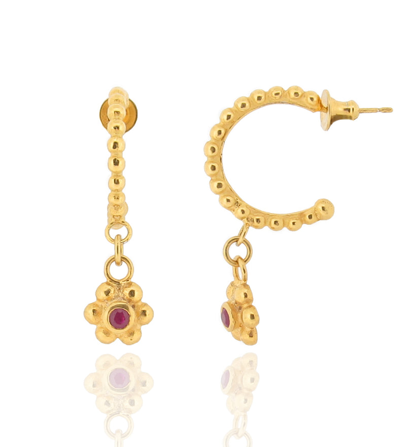 Grace Hoops - Ruby - Gold