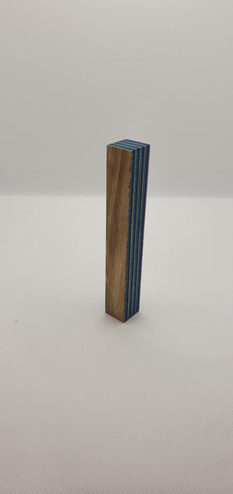 Wood Pen Blank 130x20x20mm (Green & Blue) - Makers Central