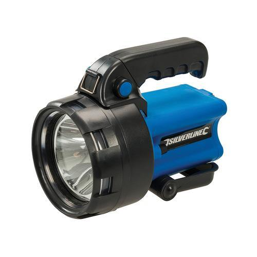 3w Lithium Rechargeable Torch - Silverline