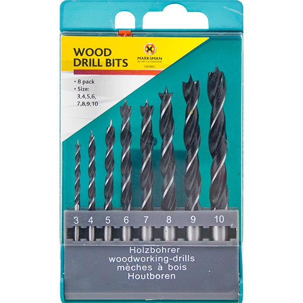 Marksman Wood Drill Bits (8pc)