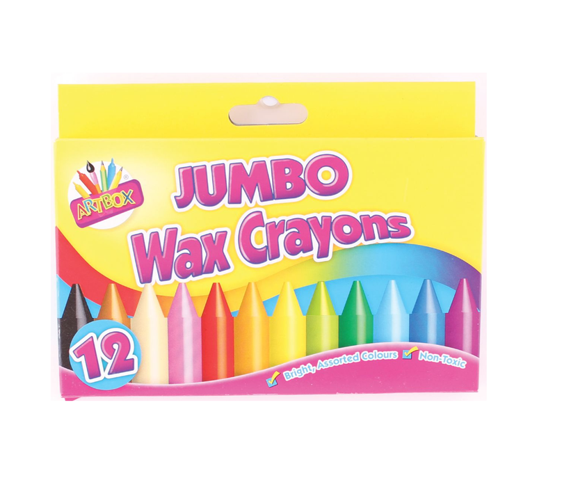 Artbox Jumbo Wax Crayons Assorted 12 Pack - Makers Central