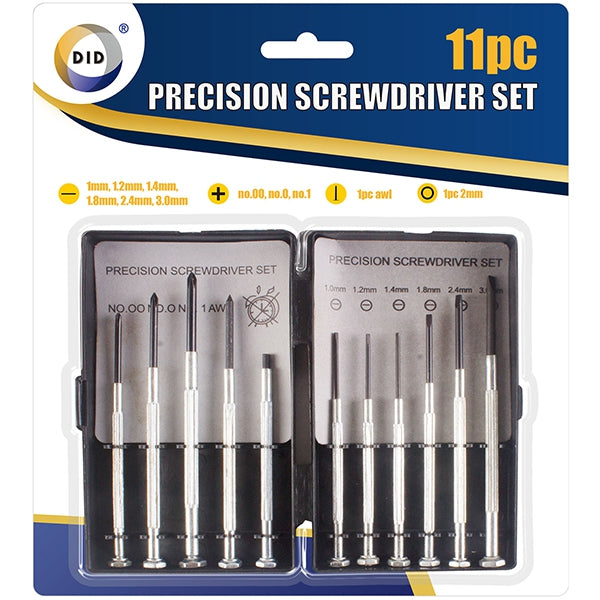 Precision Screwdriver Set (11 Pieces)