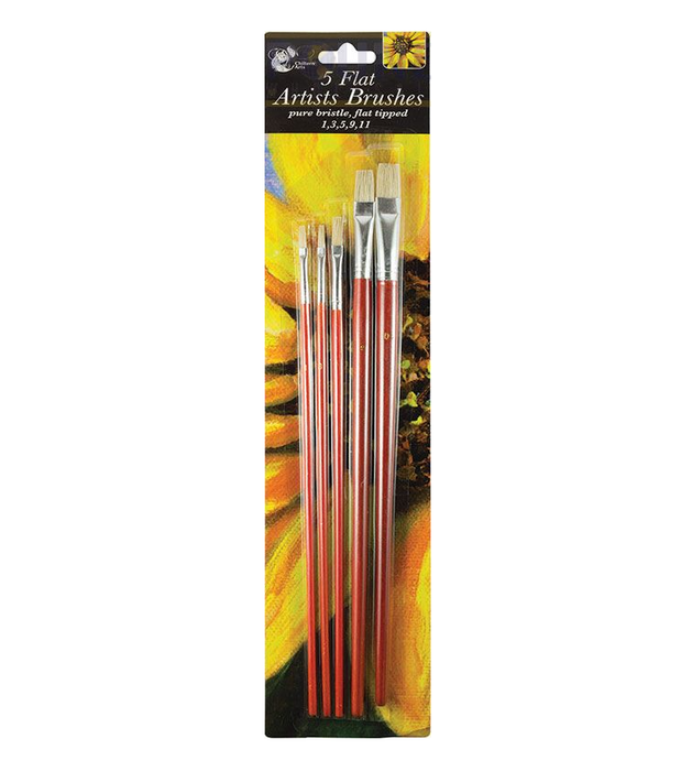 CHILTERN ARTS ARTIST BRUSH FLAT HEAD 5PK - Makers Central